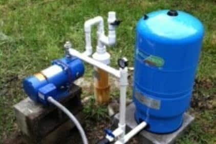 outside water softener pump