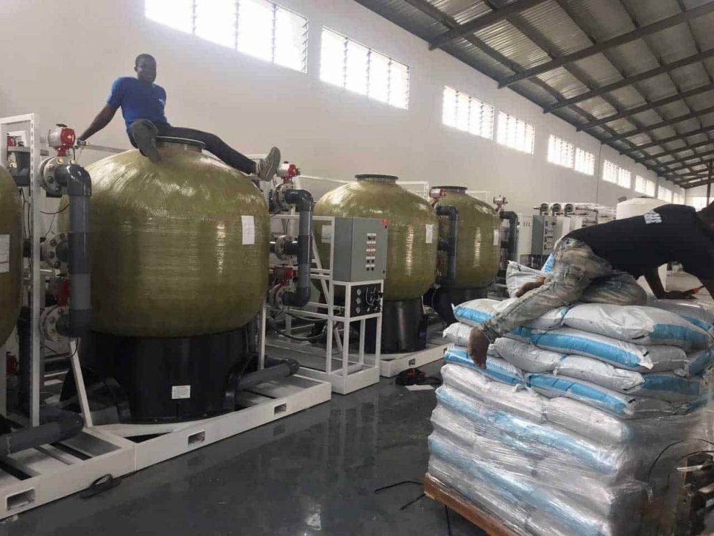 Commercial Bottled Water Factory in West Africa - BioTech Water Researchers
