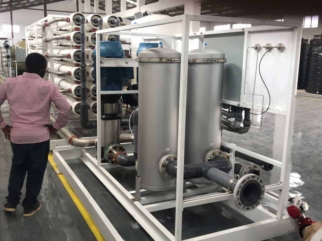 Inspecting a commercial bottled water factory in West Africa